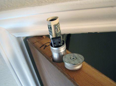 hiding place for money in your door
