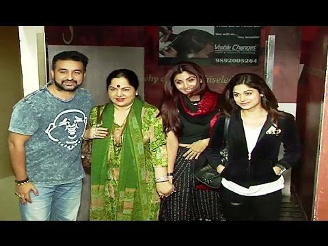 Shilpa Shetty watched BEFIKRE with family at Juhu PVR.