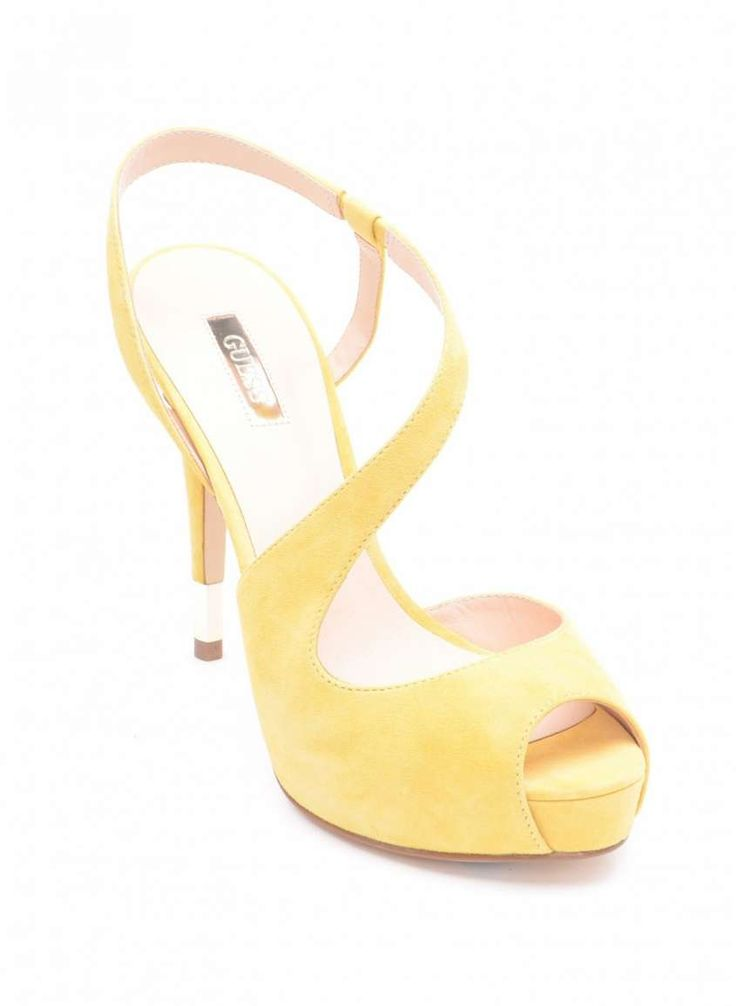 Collezione scarpe Guess Primavera Estate 2015 - Sandali gialli con tacco alto