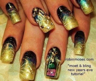 """Nail-art by Robin Moses: """"new year nail art"""""""