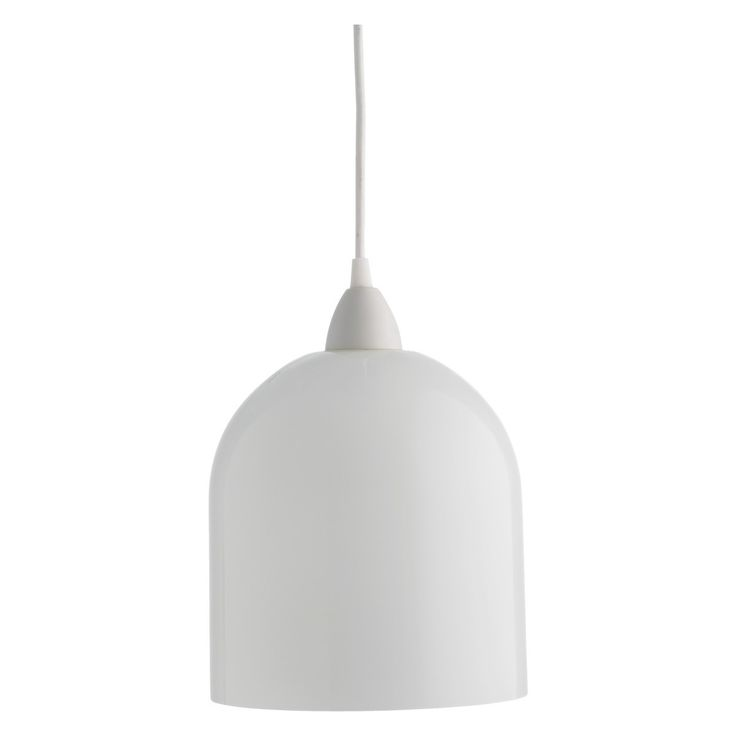 LIV White glass ceiling light shade