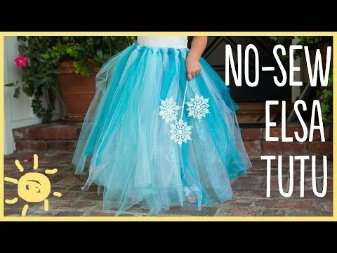 DIY | Elsa No-Sew Tutu (Easy Halloween Costume!!) - YouTube