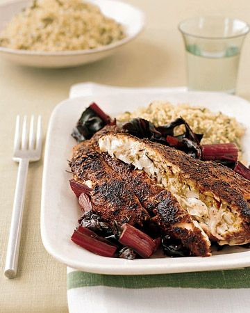 Blackened Red Snapper Fillets - Martha Stewart Recipes. This came out awesome. My filets didn't have skin, so I seasoned both sides and used a cast iron skillet. Tender, juicy, spicy
