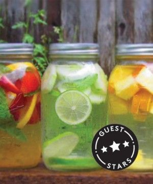 How To Make Healthy Flavored Water At Home~T~ Minty Cucumber Lime, Strawberry-Lemon with Basil, Watermelon Mint and Pineapple-Orange with Ginger.