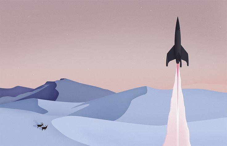 Space Travel - Thomas Danthony Illustration