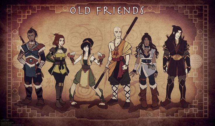 the old friends poster including suki as it should be