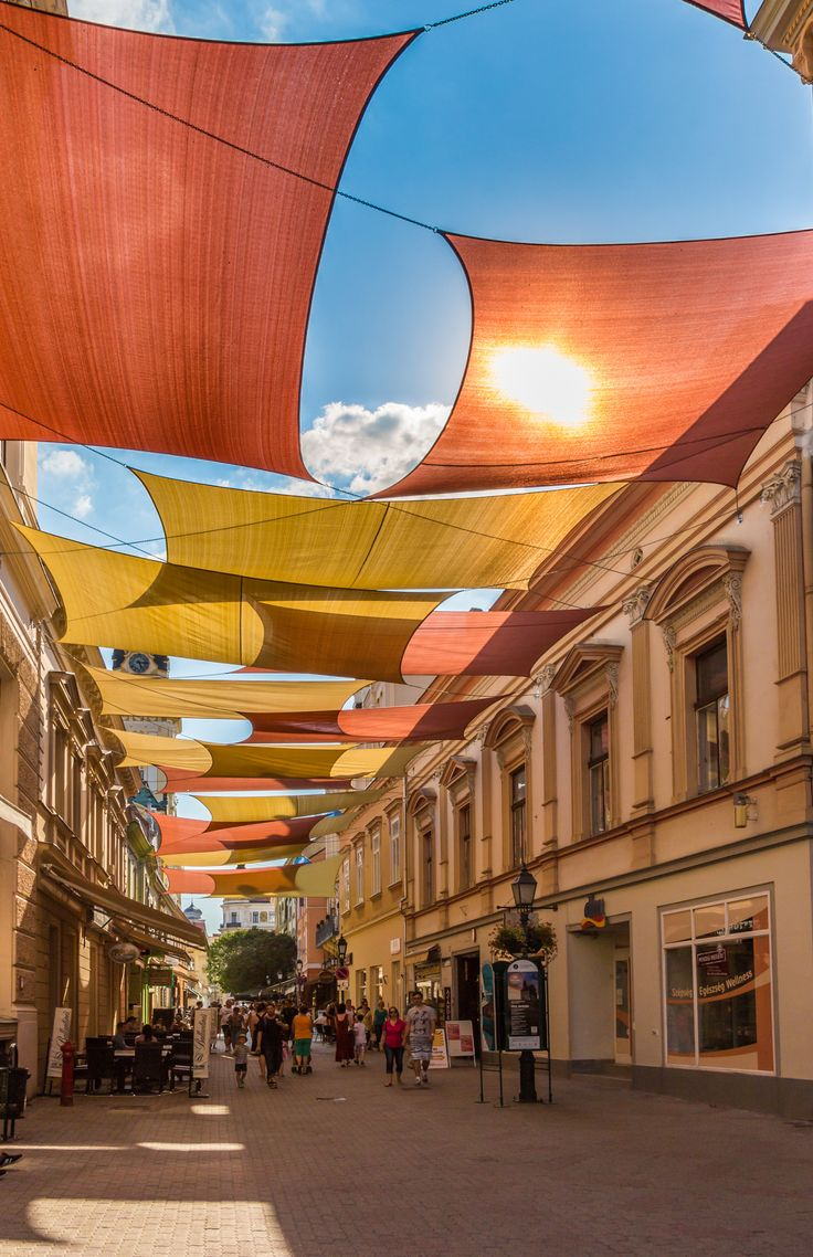 Sunny Király Street . Sunny Király Street on a hot summer day, Pécs, Baranya, Hungary .. by Balazs Fekete on 500px