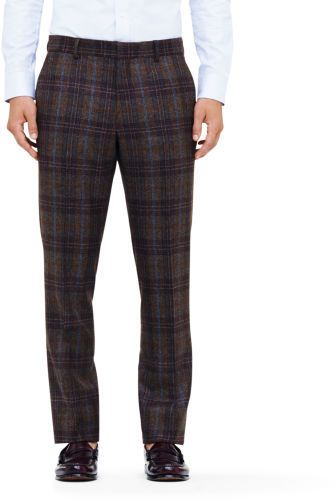 $225, Dark Brown Plaid Wool Dress Pants: Club Monaco Made In The Usa Suit Trouser. Sold by Club Monaco. Click for more info: http://lookastic.com/men/shop_items/47804/redirect