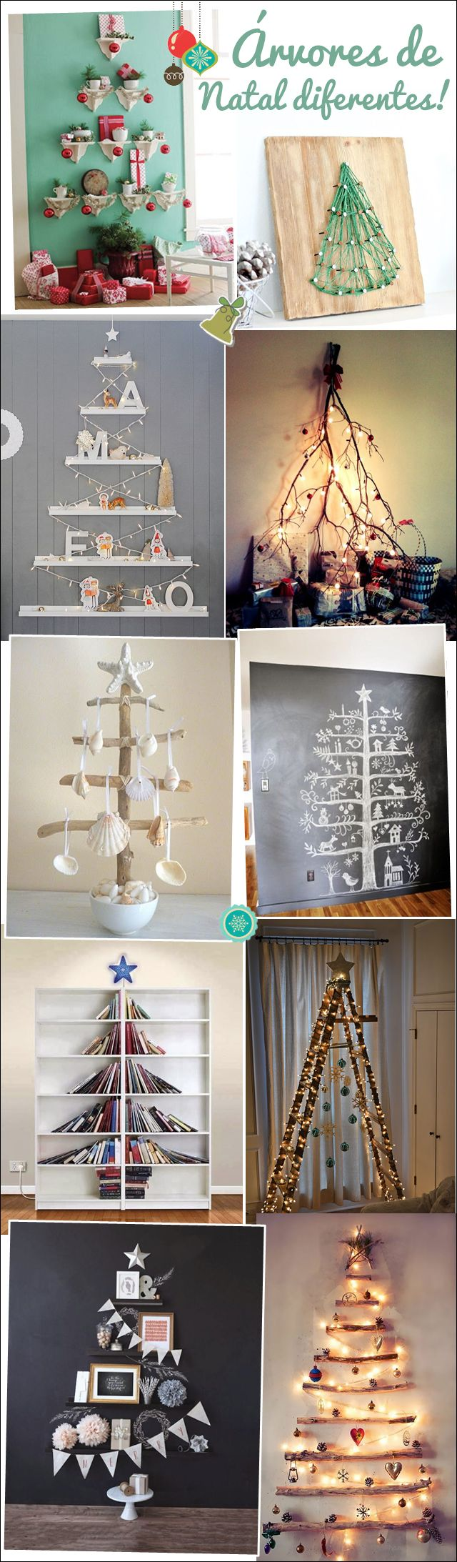 Árvores de Natal | Christmas trees, different and beautiful!
