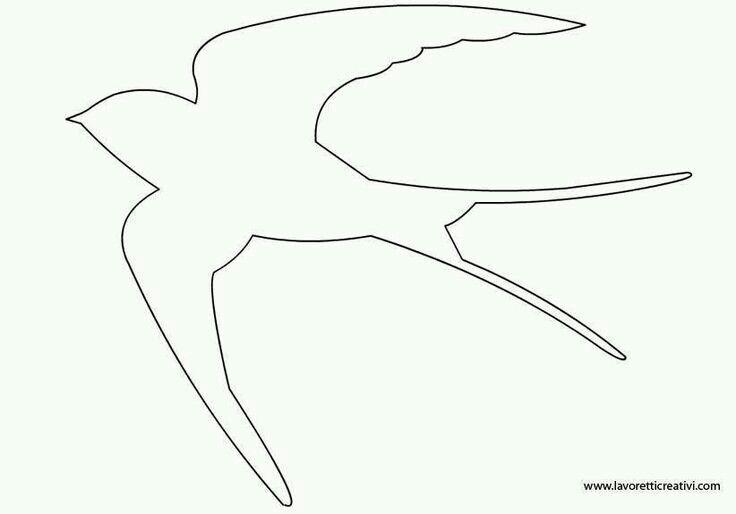 Sablona vlastovka ptak