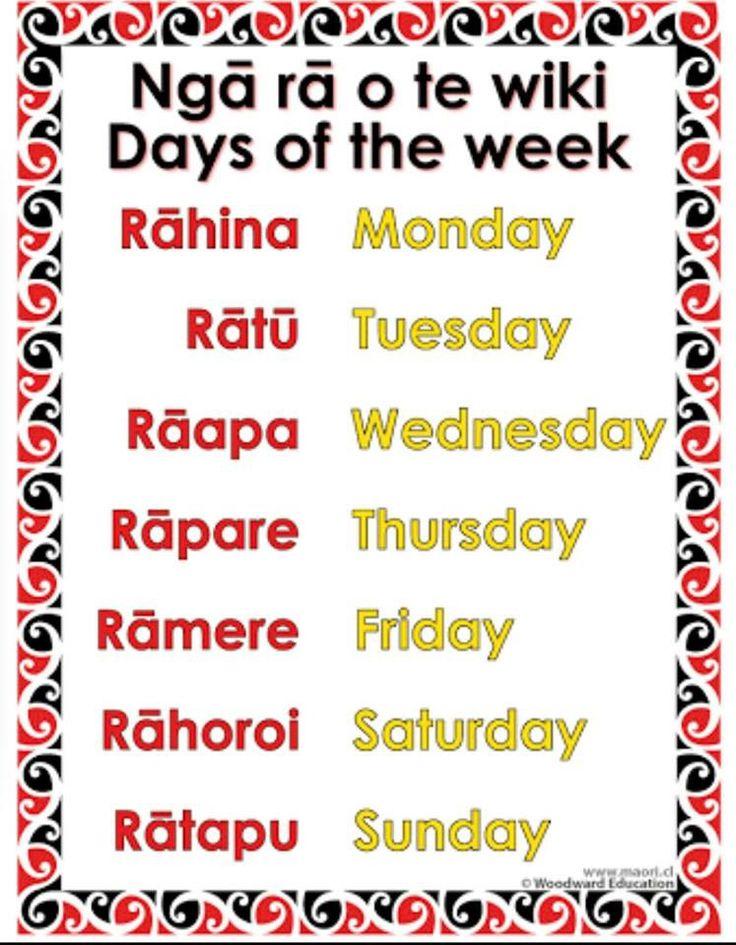 Maori days of the week
