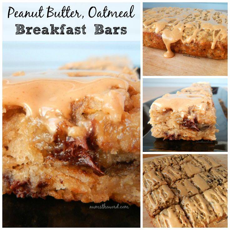 Oatmeal breakfast bars, Peanut butter oatmeal and Breakfast bars on ...