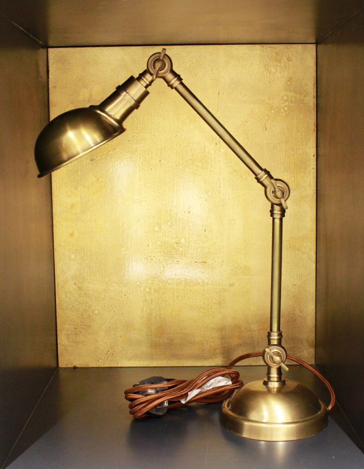 A fantastic angle poised lamp in brass. This adjustable lamp is great to have over your desk or bedside table as a reading light. It can also just be used to add a contemporary, stylish feel to a room. Suitable for domestic and commercial interior.