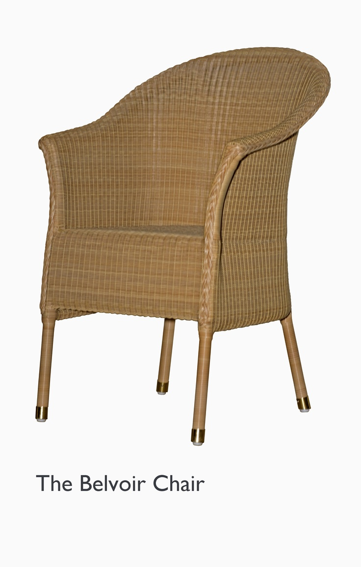 Belvoir chair from Lloyd Loom -- a newer version of my antique, tattered one I can't bear to throw out