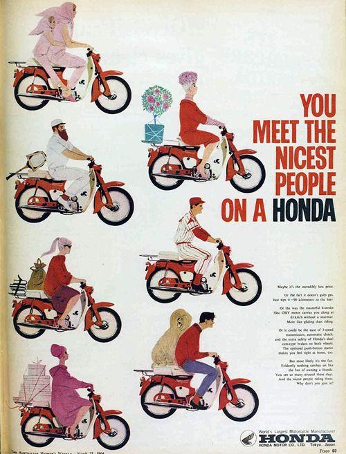 vintage ad Honda! 1964