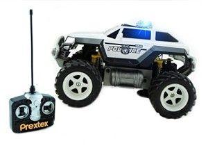 Prextex Remote Control Monster Police Truck Radio Control Police Car