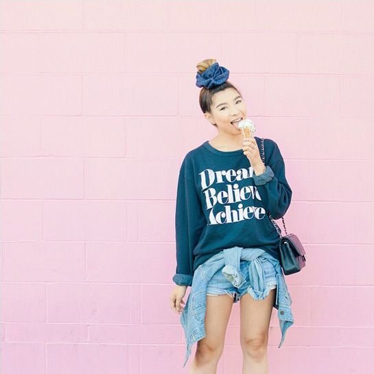 These 5 Outfits Give Extra Meaning To #TBT  #refinery29  http://www.refinery29.com/throwback-thursday-kid-clothes-outfits#slide5  Lilyanne Nguyen reps Scrunchies of Instagram with her festive top knot.