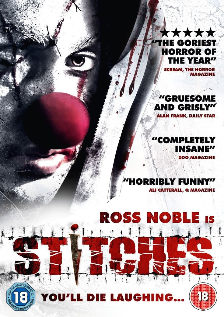 Stitches. Funny horror movie with an evil, living-dead clown. Read more: http://www.celluloiddiaries.com/2013/04/bifff-2013.html (evil clowns, killer clowns, living-dead clowns, dangerous clowns, It, horror movies with clowns, horror films with clowns, scary clowns, creepy clowns, Stitches, Ross Noble)
