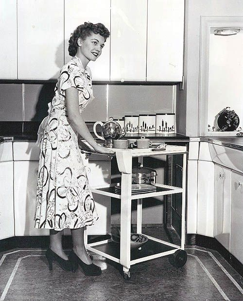 Retro Woman In Kitchen: 635 Best Vintage Kitchens Images On Pinterest