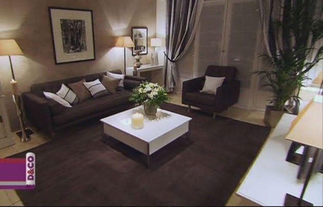 Deco Salon Blanc Et Marron Beige Id Es D Coration Int Rieure | Deco salon blanc, Salon blanc