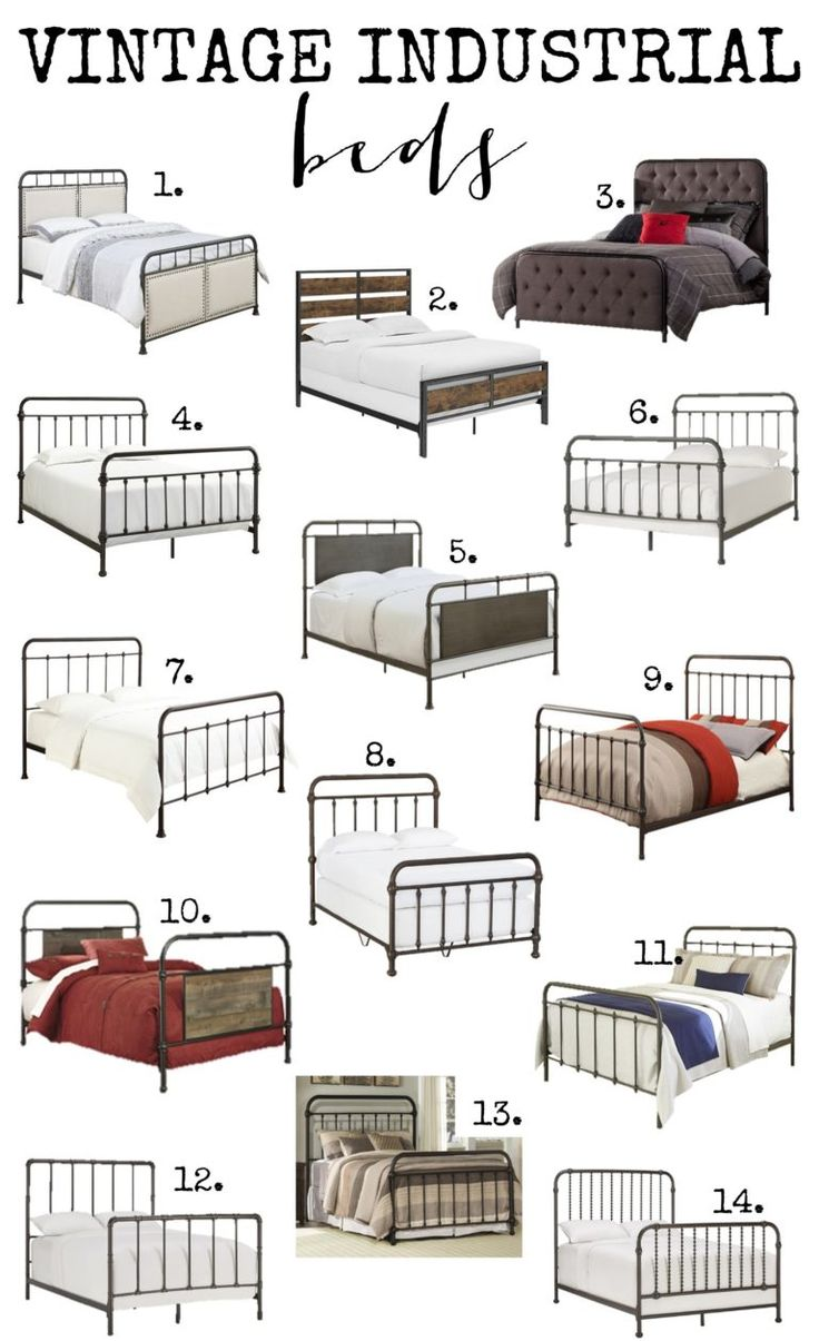 Check out all these amazing vintage industrial beds.  Options for every budget