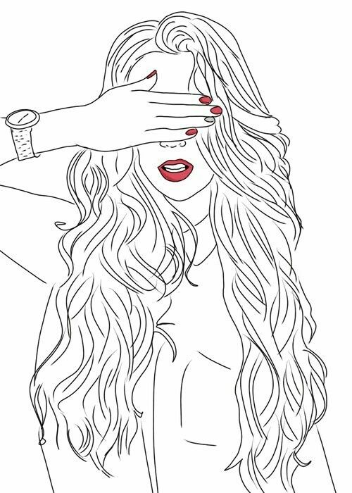 Line Art Hair : Best black and white line images on pinterest girl