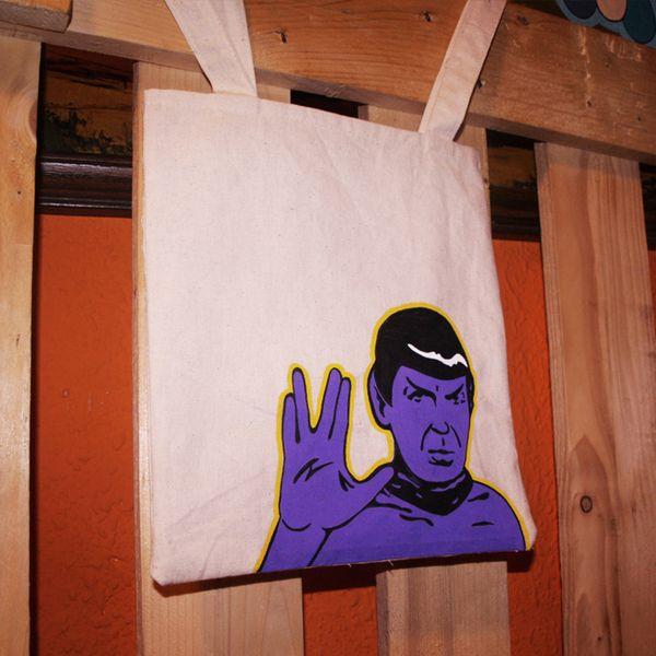 Mr.Spock Tote Bag de Mr. Rancio! Ilustración por DaWanda.com #handmade #totebag #startrek