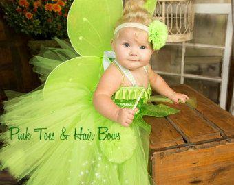 Traje de hadas de vestido de Tutu vestido - Tinkerbell campanita Tinkerbell disfraz