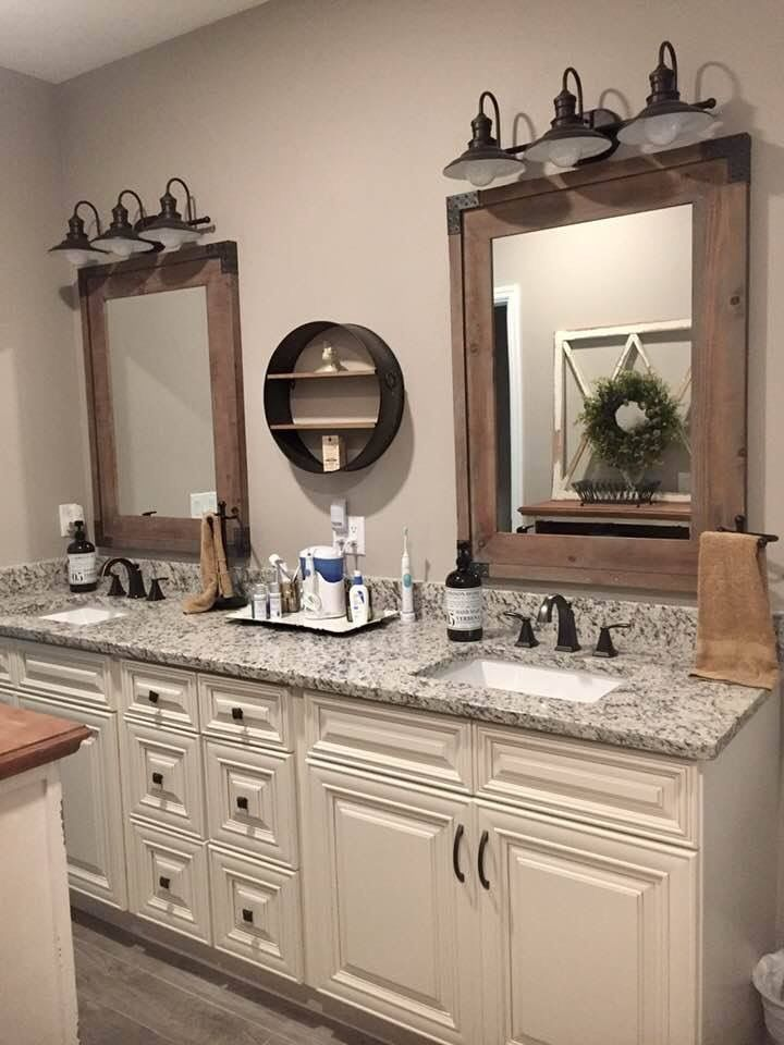 A Fun Mix Of Rustic And Traditional Bathrooms Remodel Master Bedroom Bathroom Bathroom Design