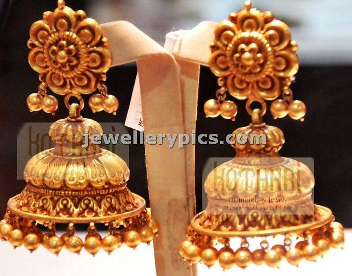 22carat Nakshi gold Jhumka | buttalu designs - Latest Jewellery Designs