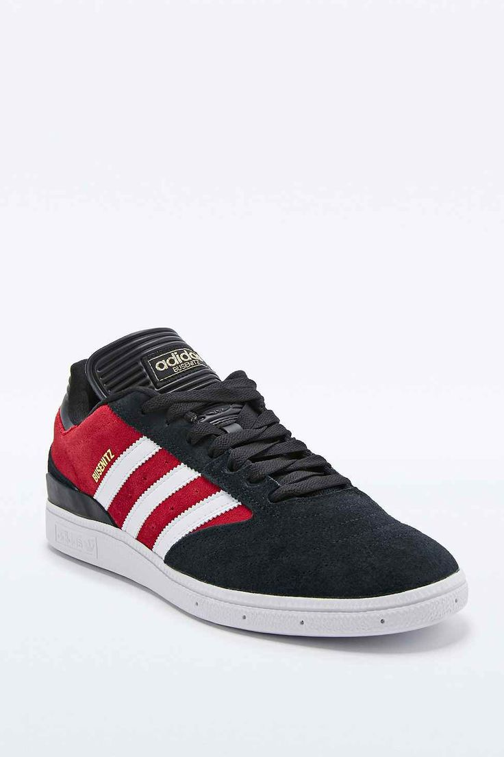 red and black adidas skate shoes