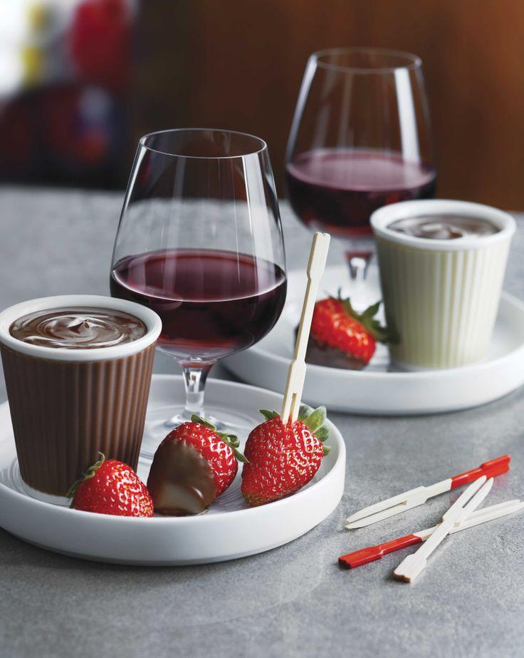 fondue au fondue melt choco fondue vin au spice rum cup dark chocolate ...