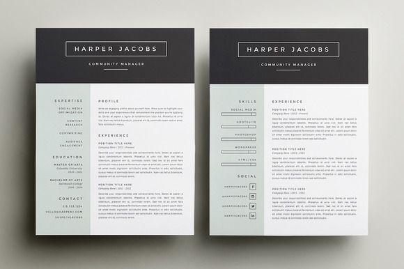 resume template 4 pack cv template creative resume
