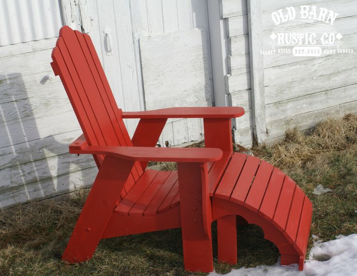 Superior Rustic Red Adirondack Chair FARMHOUSE Collection Home Design Ideas