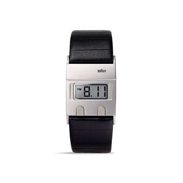 """Thirty years ago, influential industrial designer Dieter Rams created a watch for Braun that perfectly encapsulated his Neo-Bauhaus desire to craft objects that used """"as little design as possible."""" Now, Braun has reissued the watch, making only minor adjustments to its form — most notably with the addition of a digital LCD screen. While back in 1978 Braun issued just 3,000 examples of the timepiece.  #thewatchco #braunwatches #dieterrams #dietrichlubs #design #lessismore #classic"""