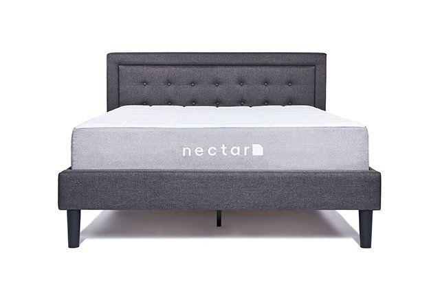 Elegant Platform Bed Frame With Headboard Full Furnished Look