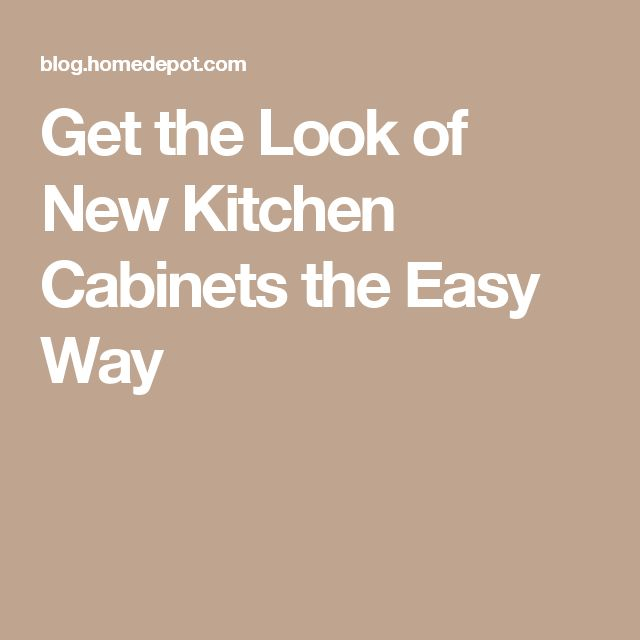 Get the Look of New Kitchen Cabinets the Easy Way