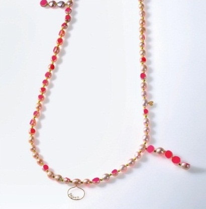 Mariko Yamashita - 'party' necklace - êarl, 18k, paint (EXPO Barocco)