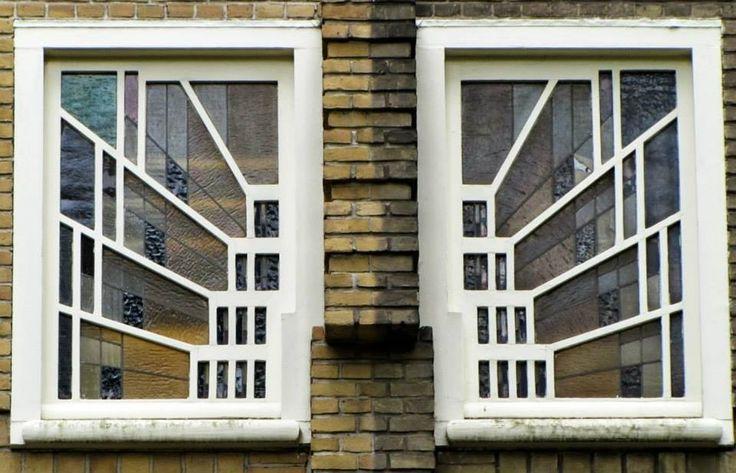 Amsterdamse school  Window in Amsterdam south, famous designer berlage!