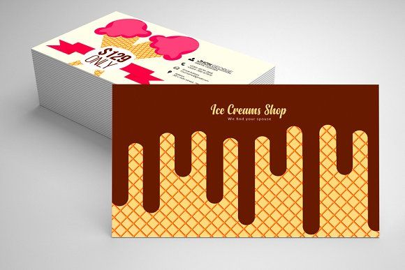 Ice Cream Business Card Templates 06 Business Card Template Design Card Templates Ice Cream Business