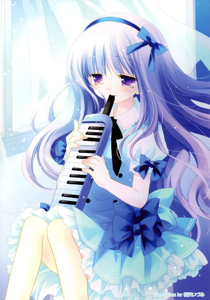 Anime Music Girl Wallpaper - Cute Images