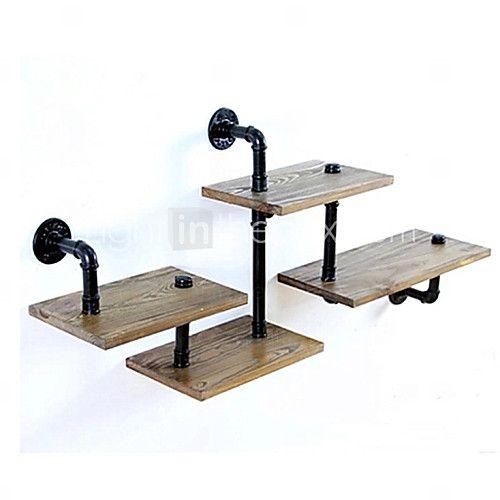 LOFT Innovative Design DIY Book Shelves Retro Style Old Industrial Pipes Shelf Bookcase Shelves-Z29 2016 - $78.99