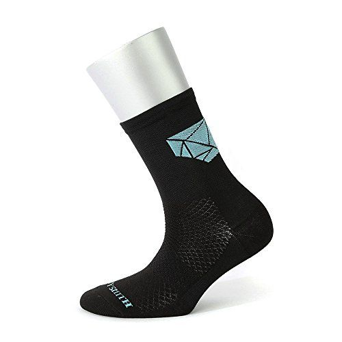Sooty Smith Quarter Cycling Lycra Easycool Diamond Lightweight Unisex Bike Socks S  Size 95 US Men Shoes 685  Women 795 Big Diamond Black Sky 1pair S *** You can find more details by visiting the image link.