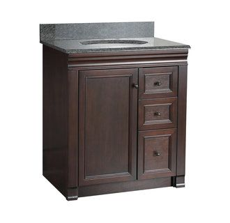 """View the Foremost SH3021DR Shawna Bathroom Vanity 30"""" with Right Side Drawers at Build.com.  I like color."""
