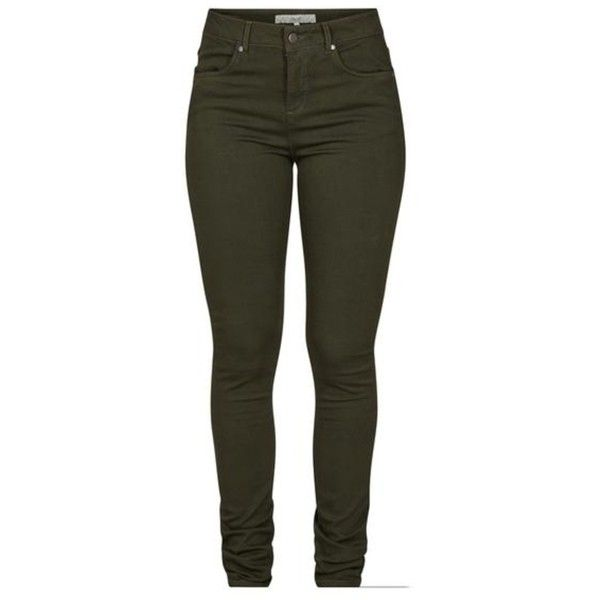 Allentown Jeans (1 320 UAH) ❤ liked on Polyvore featuring jeans, high waisted khaki jeans, green jeans, khaki jeans, highwaist jeans and khaki green jeans