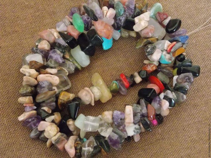 Купить Микс камней. нить 80 см - комбинированный, натуральные камни, купить в краснодаре