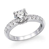 Round Diamond Solitaire Engagement Ring in 14k White Gold