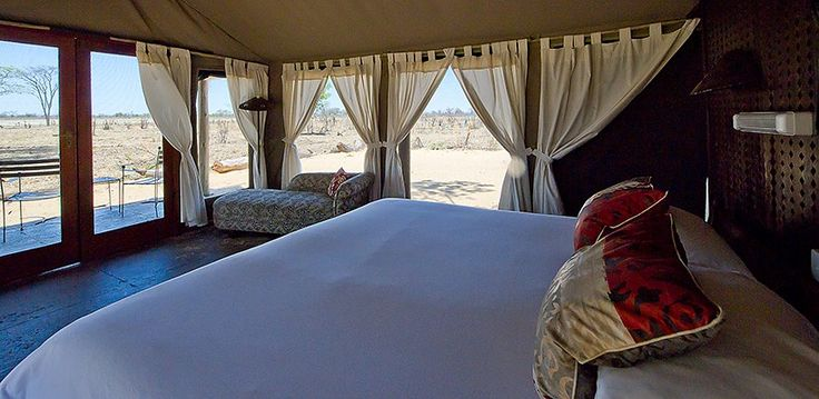 Your tent at Davison's Camp, Hwange National Park, Zimbabwe | Wilderness Safaris