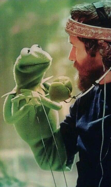 Jim Henson with Kermit