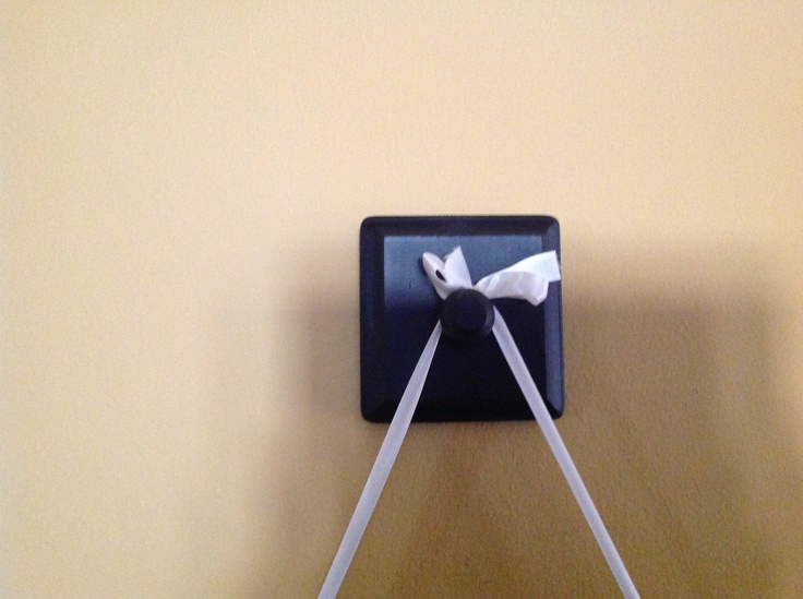 images about Hanging pics with ribbon on Pinterest